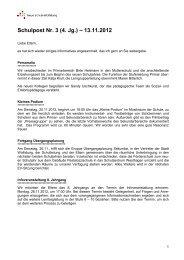 Schulpost Nr. 3 (4. Jg.) – 13.11.2012 - Neue Schule Wolfsburg