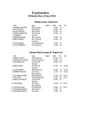 Ergebnisliste Wilhelm-Horz-Pokal 2010 - VfL Stade