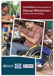 Manual Wheelchairs - World Health Organization