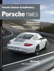 PorscheTimes Vorlagedokument - Porsche Zentrum Aschaffenburg