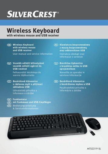 Wireless Keyboard - Targa Service Portal