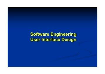 Software Engineering User Interface Design - Csbdu.in