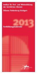 Fortbildungskalender 2013 - Diözese Rottenburg-Stuttgart