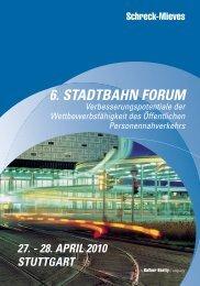 6. stadtbahn forum 27. - Schreck-Mieves GmbH