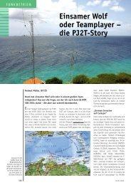 Einsamer Wolf oder Teamplayer – die PJ2T-Story - DF7ZS