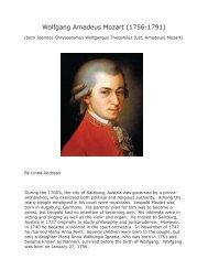 Wolfgang Amadeus Mozart (1756-1791) - Center for Austrian Studies