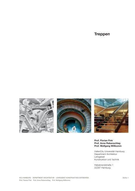 Uni Hamburg Architektur | Skript Treppen Indd Hcu Hafencity Universitat Hamburg
