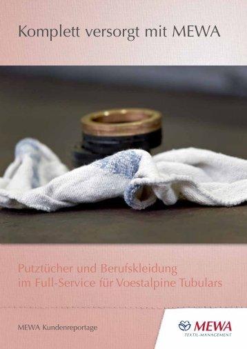 Putztücher und Berufskleidung im MEWA System - Voestalpine ...
