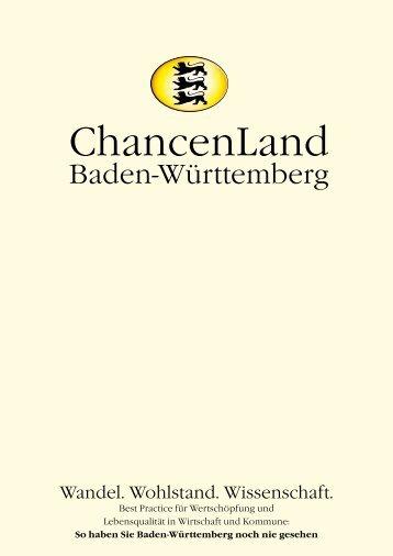 Chancenland Baden-Württemberg - PR Presseverlag Süd GmbH