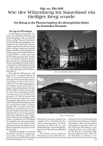 Wie der Wilzenberg im Sauerland ein Heiliger Berg - EFODON eV