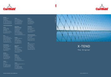 X-TEND - Ronstan Tensile Architecture