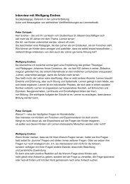Interview mit Wolfgang Endres - Sinn-Stiftung