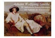 Johann Wolfgang Goethe IV. Italien - Literaturwissenschaft-online