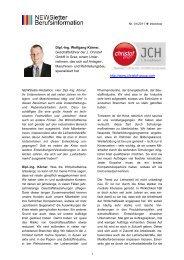 Dipl.-Ing. Wolfgang Körner, Geschäftsführer der J. Christof GmbH in ...