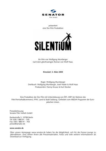präsentiert eine Dor Film Produktion Ein Film von Wolfgang ...