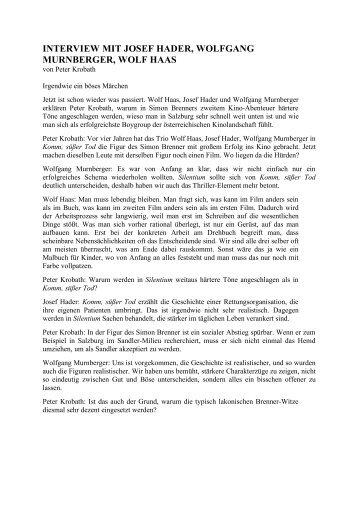 interview mit josef hader, wolfgang murnberger, wolf haas
