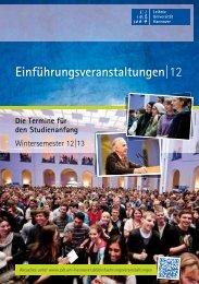 Einführungsveranstaltungen - ZSB - Zentrale Studienberatung der ...