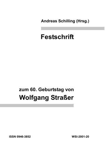 Festschrift Wolfgang Straßer - TOBIAS-lib - Universität Tübingen