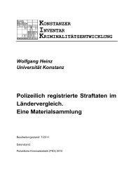 Polizeilich registrierte Straftaten im Ländervergleich - Universität ...