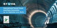 International Tunnel Forum InnoTrans Convention 19.