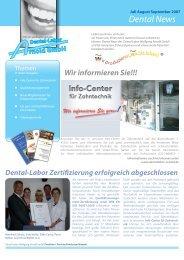 Newsletter 4.indd - Dental-Labor Wolfgang Arnold GmbH