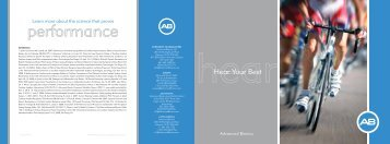 Hear Your Best Performance Brochure - Advanced Bionics