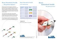Bionic Buttonhole Needle - Vascular Access by Bionic