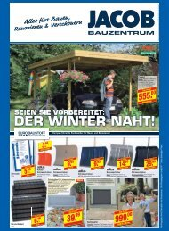 DER WINTER NAHT! - Jacob GmbH - jacobgmbh.de