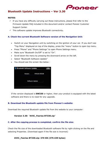 Pioneer avic f900bt test mode download