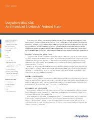 iAnywhere Blue SDK An Embedded Bluetooth® Protocol ... - Sybase
