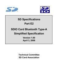 SDIO Simplified Specification - SD Association