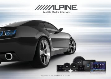 View Catalogue - Alpine Electronics of Australia