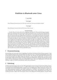 Einblicke in Bluetooth unter Linux