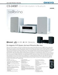 CS-245BT CD Hi-Fi Mini-System mit Bluetooth - Ch.onkyo.com