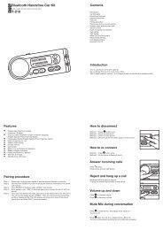 Bluetooth Handsfree Car Kit T-210 - Mobile Fun