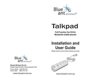 Talkpad - BlueAnt Wireless