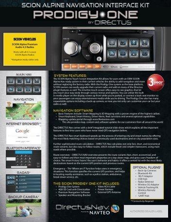 scion alpine navigation interface kit - Car Navigation systems ...