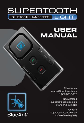 User Manual (PDF, 530 KB) - BlueAnt Wireless