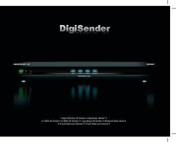 • High Definition AV Senders • DigiSender iMedia® • • 2.4GHz AV ...