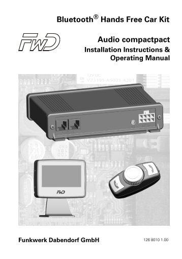 Bluetooth Hands Free Car Kit Audio compactpact - Funkwerk ...
