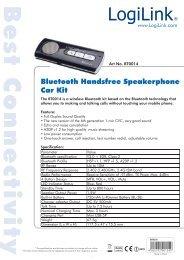 Bluetooth Handsfree Speakerphone Car Kit