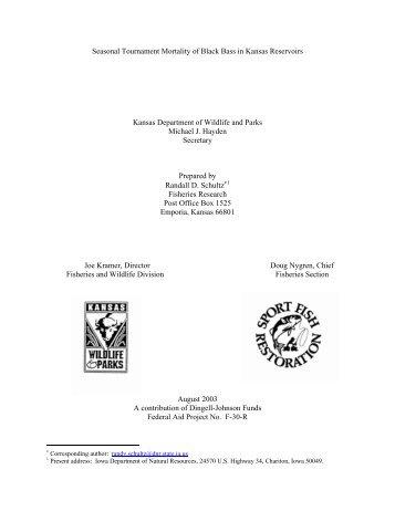 Exploitation and Mortality Rates of White Bass in Kansas ... - kdwpt