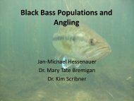Black Bass Populations and Angling