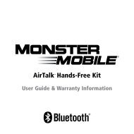 AirTalk Bluetooth Car Kit Manual - Monster Cable