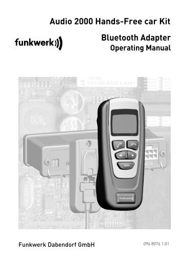 Audio 2000 Hands-Free car Kit Bluetooth Adapter - Funkwerk ...