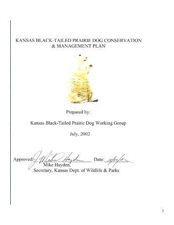 Kansas Black-tailed Prairie Dog Working Group - kdwpt