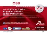 Klagenfurt–Villach– Spittal-Millstättersee - Kärntner Linien