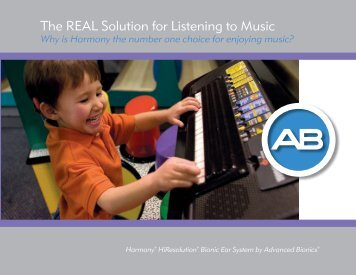 The REAL Solution for Listening to Music - Advanced Bionics