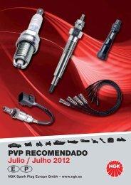 PVP RECOMENDADO Julio / Julho 2012 - Motos Recambios