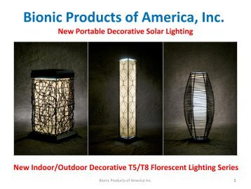 Bionic Products of America inc. (847) 441-6000